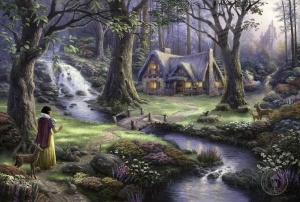 Snow White's Cottage by Thomas Kinkade